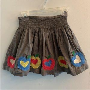 •Mini Boden• Apple Heart Skirt